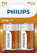 Baterija Philips LongLife D-LR20, 2 kosa