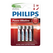 Baterija Philips Power Alkaline AAA-R03, 4 kosi