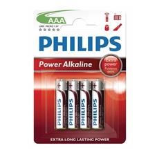 Baterija Philips Power Alkaline AAA-R03, 4 kosi