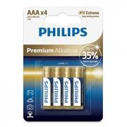 Baterija Philips Premium Alkaline AAA-LR03, 4 kosi