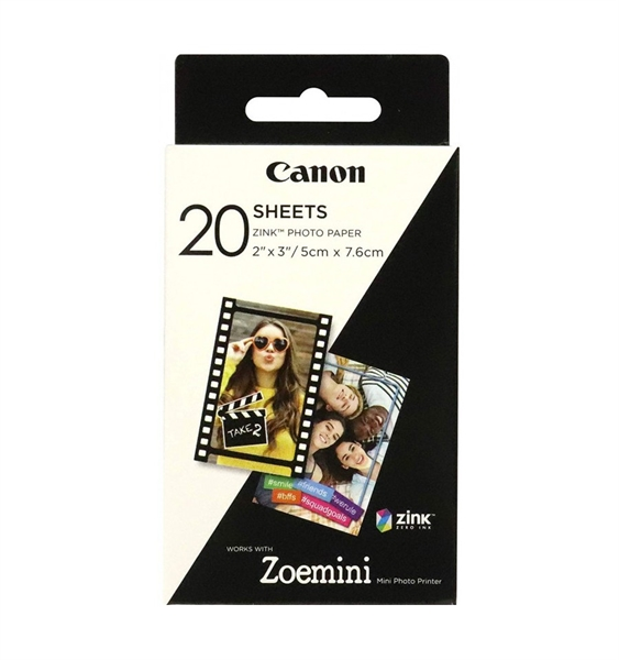 Foto papir Canon ZINK, 20 listov (5 x 7,6 cm)