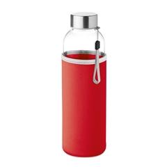 Steklenica Glass za vodo, 500 ml, rdeča