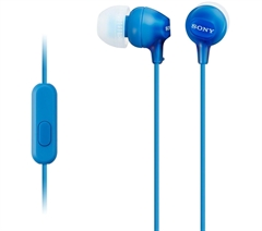 Slušalke Sony za Android/iPhone, žične, modra, MDREX15AP