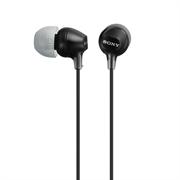 Slušalke Sony z ušesnimi čepki, žične, črne,  MDREX15LPB