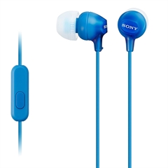 Slušalke Sony z ušesnimi čepki, žične, modre, MDREX15LPLI