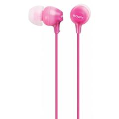 Slušalke Sony z ušesnimi čepki, žične, roza MDREX15LPPI