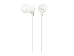 Slušalke Sony z ušesnimi čepki, žične, bele, MDREX15LPW