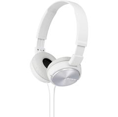 Naglavne slušalke Sony, žične, bele, MDRZX310W