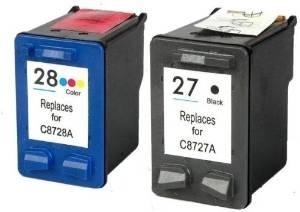 Komplet kartuš za HP C8727AE nr.27 (črna) + C8728AE nr.28 (barvna), kompatibilen