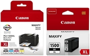 Komplet kartuš Canon PGI-1500XL (BK/C/M/Y) + PGI-1500XL BK (črna), original