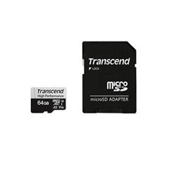 Spominska kartica Transcend Micro SDXC 330S, 64 GB + SD adapter