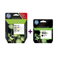 Komplet kartuš HP 3HZ51AE nr.903XL (BK/C/M/Y) + T6M15AE nr.903XL (BK), original