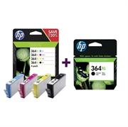Komplet kartuš HP N9J74AE nr.364XL (BK/C/M/Y) + CN684EE nr.364XL (črna), original