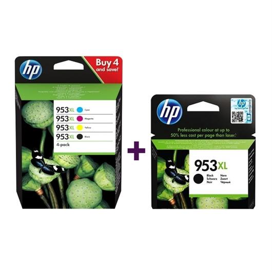 Komplet kartuš HP 3HZ52AE nr.953XL (BK/C/M/Y) + L0S70AE nr.953XL (črna), original