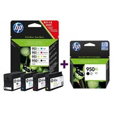 Komplet kartuš HP C2P43AE nr.950/951XL (BK/C/M/Y) + CN045AE nr.950XL (črna), original