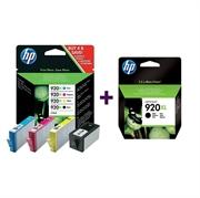 Komplet kartuš HP C2N92AE nr.920XL (BK/C/M/Y) + CD975AE nr.920XL (črna), original
