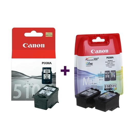 Komplet kartuš Canon 2 x PG-510 + CL-511, original + DARILO: kalkulator Canon