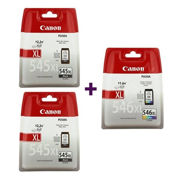 Komplet kartuš Canon 2 x PG-545XL + CL-546XL, original