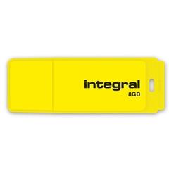 USB ključ Integral Neon, 8 GB, rumen