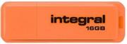 USB ključ Integral Neon, 16 GB, oranžen