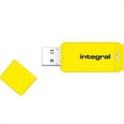 USB ključ Integral Neon, 16 GB, rumen