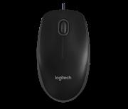 Miška Logitech B100, žična, črna