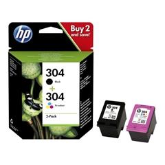 Komplet kartuš HP 3JB05AE (nr.304 BK + nr.304 CMY), original