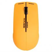 Miška Port Neon, brezžična, oranžna + podloga