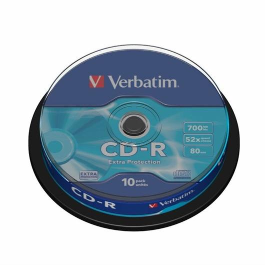 CD-R medij Verbatim 700MB/80min 52x, 10 kosov