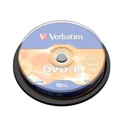 DVD-R medij Verbatim 4,7GB, 16x, 10 kosov