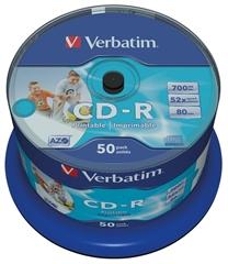 CD-R medij Verbatim 700MB/80min 52x, 50 kosov