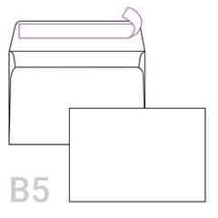 Kuverta B5, 250 x 176 mm, bela, V odpiranje, 1 kos