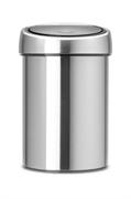 Koš za smeti Brabantia Touch, 3 L, mat kovinski, s stenskim nosilcem