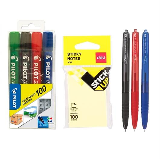 Set Pilot (markerji + kemični svinčniki + lističi)