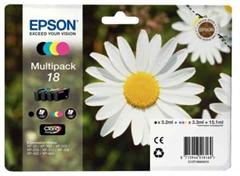 Poškodovana embalaža: komplet kartuš Epson 18 (C13T18064010) (BK/C/M/Y), original