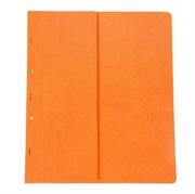 Mapa prešpan s kovinsko obrobo, polovična, oranžna