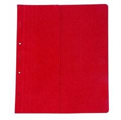 Mapa prešpan s kovinsko obrobo, polovična, rdeča