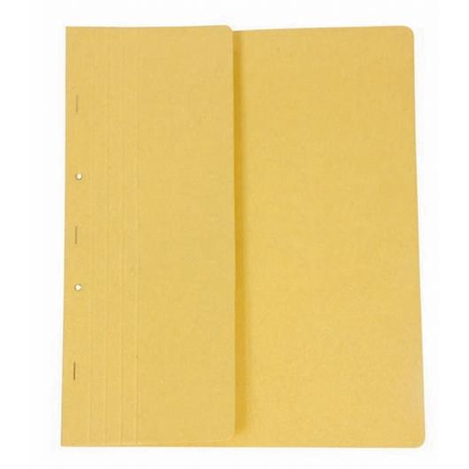 Mapa prešpan s kovinsko obrobo, polovična, rumena
