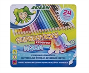 Barvice Jolly Kinderfest Supersticks Aqua, 24 kosov
