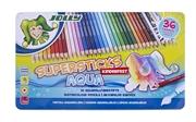 Barvice Jolly Kinderfest Supersticks Aqua, 36 kosov
