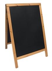 A-tabla Securit Duplo, 85 x 55 cm, lesena