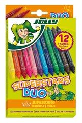 Flomastri Jolly Superstar Duo, 12 kosov