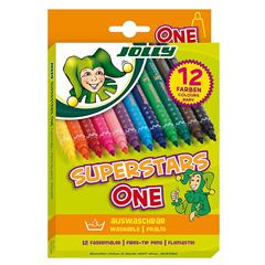 Flomastri Jolly Superstar One, 12 kosov
