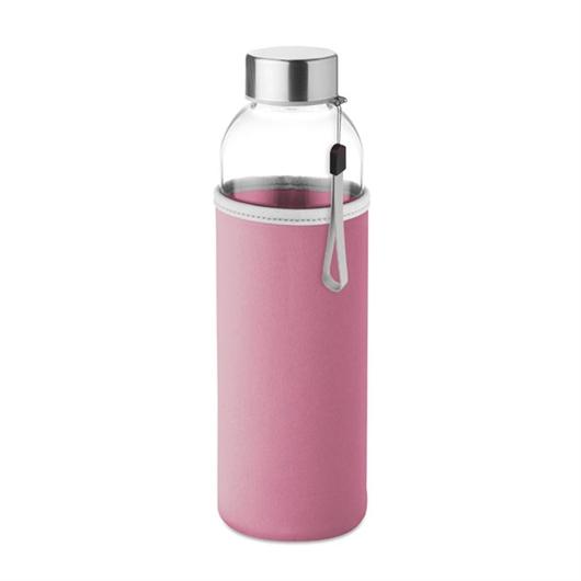 Steklenica Glass za vodo, 500 ml, roza