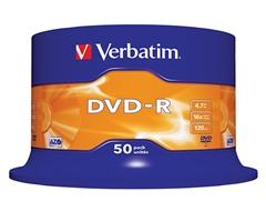 DVD-R medij Verbatim 4,7GB, 16x, 50 kosov