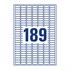 Etikete Zweckform L7871-20, 25,4 x 10 mm, bela