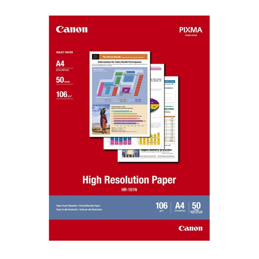 Foto papir Canon HR-101N, A4, 50 listov, 106 gramov