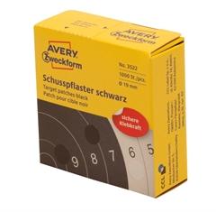 Etikete (označevalne točke) Zweckform 3522, premer 19 mm, črne