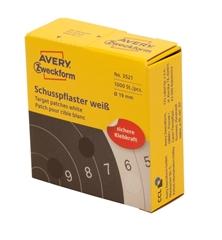 Etikete (označevalne točke) Zweckform 3521, premer 19 mm, bele