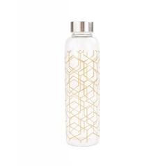 Steklenica za vodo Skul vajb, 550 ml, črte